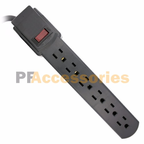 topzone 1 feet 6 outlets built in safety circuit breaker angle plug rh walmart com