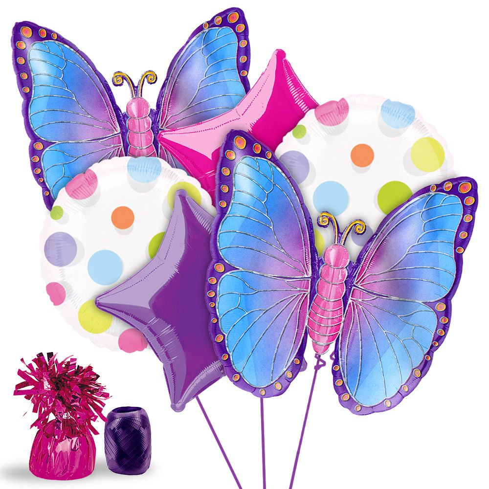 Butterfly Birthday Balloon Kit - Party Supplies