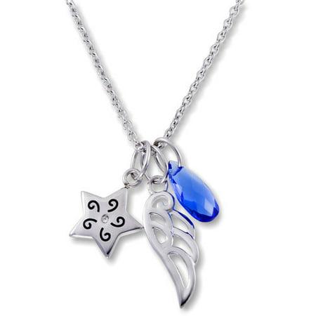 Hallmark steel star wing cluster pend w chain for Star hallmark on jewelry