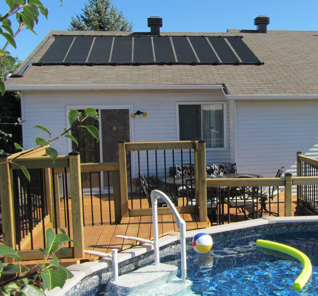 2-2'X12' SunQuest Solar Swimming Pool Heater with Roof/Rack Mounting Kit