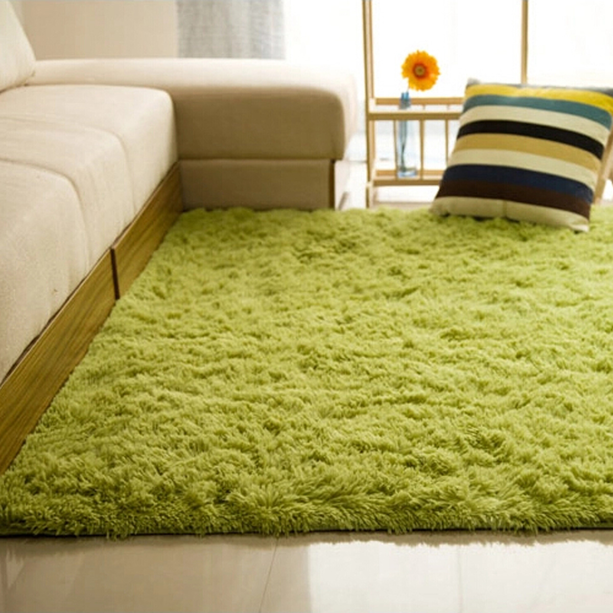 48x32 Inch Modern Soft Fluffy Floor Rug Anti Skid Shag Shaggy Area