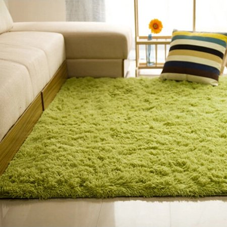 48x32 Inch Modern Soft Fluffy Floor Rug Anti Skid Gy Area Bedroom Dining