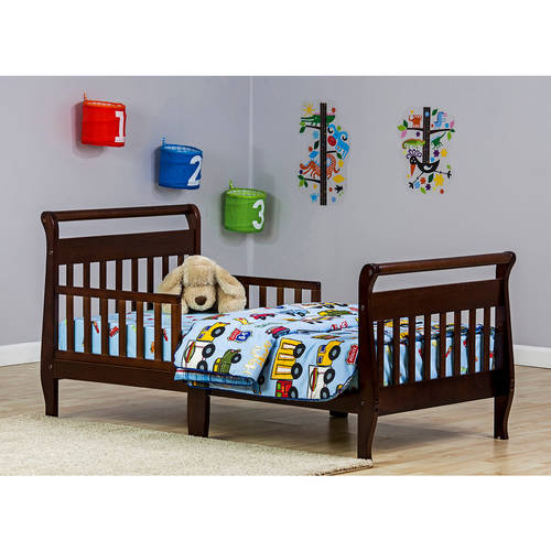 Dream On Me Sleigh Toddler Bed, Espresso