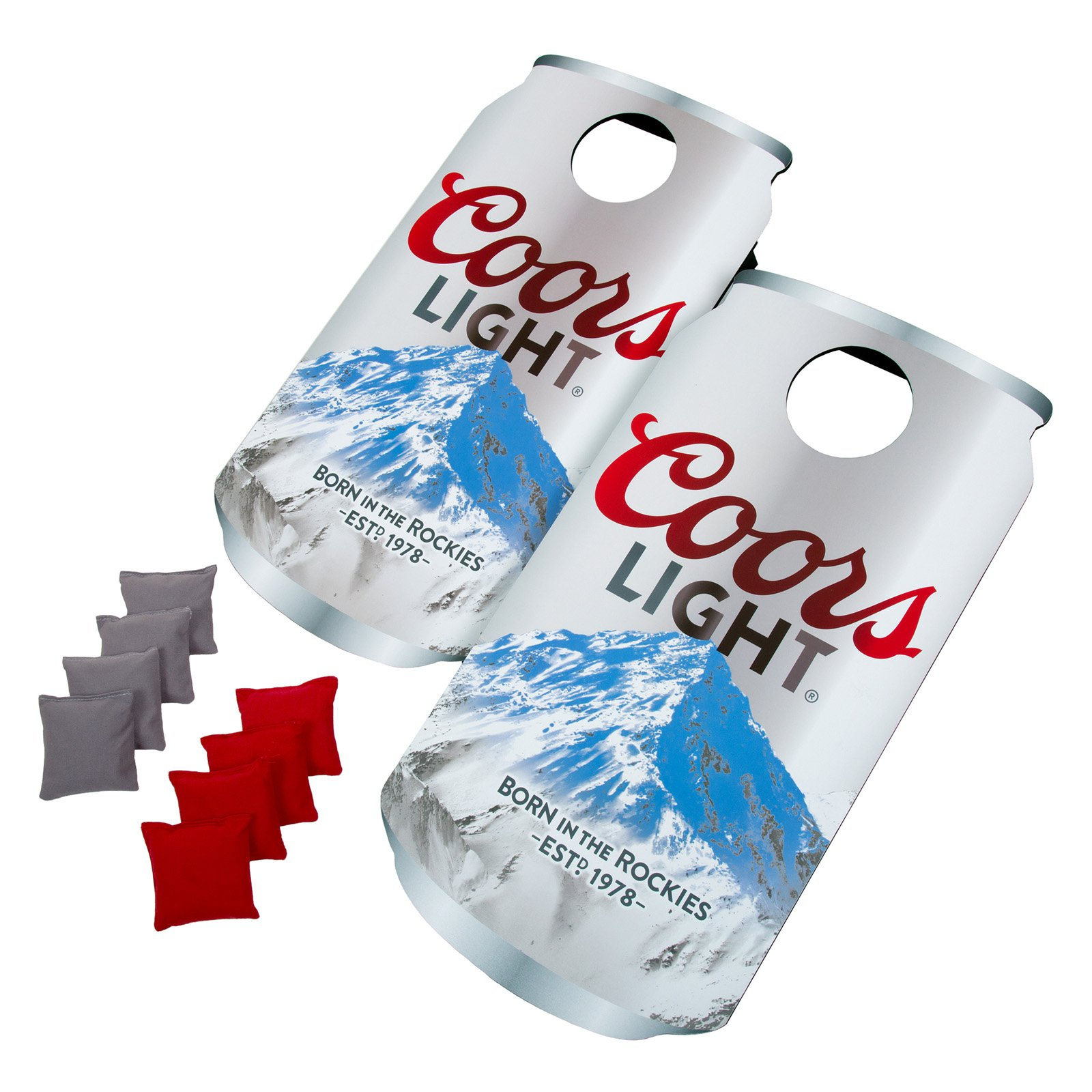 Click here to buy Trademark Coors Light Can Cornhole Beanbag Toss Game by Trademark Global.