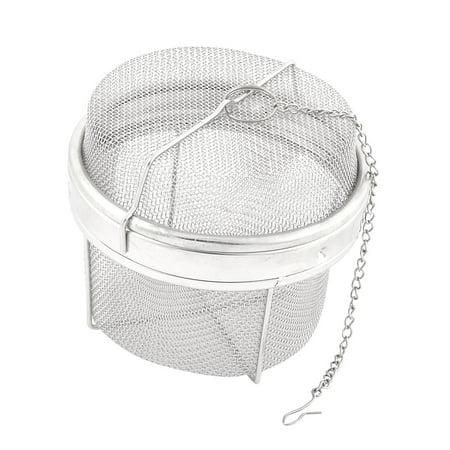 Unique Bargains 11cm Dia Stainless Steel Wire Mesh Twist Locking Sphere Ball Spice Tea
