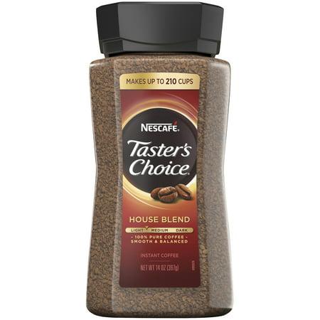 NESCAFE TASTER'S CHOICE House Blend Instant Coffee 14 oz. - Nescafe Blend