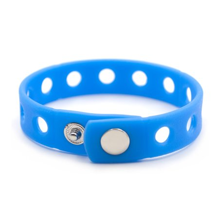 Charms For Bracelets Wholesale (GOGO Adjustable Silicone Wristband Bracelet For Fit Shoe Charms Adult & Kid Wholesale for Party Gift-Adult Blue-10)