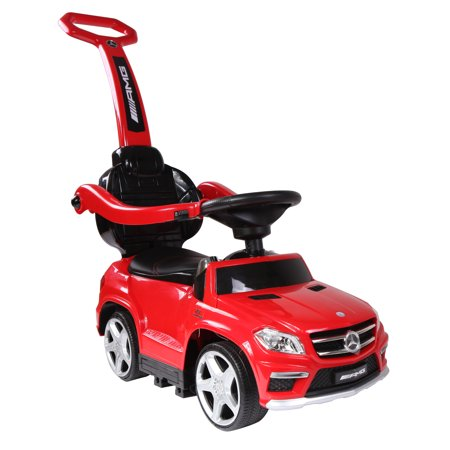 Plastic Push Cap - Best Ride On Cars Baby 4 in 1 Mercedes Toy Push Vehicle, Stroller, & Rocker, Red