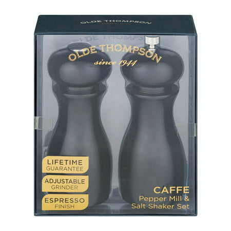 Olde Black Pottery (Olde Thompson Caffe Pepper Mill & Salt Shaker Set Espresso Finish - 2 CT)