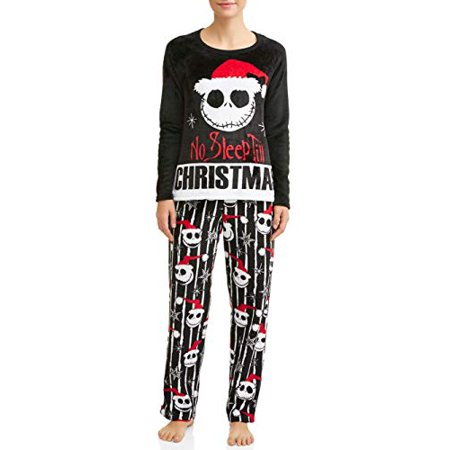 6d964e62a7 Nightmare Before Christmas Jack Skellington Women s Santa Pajama Set  (x-Large)