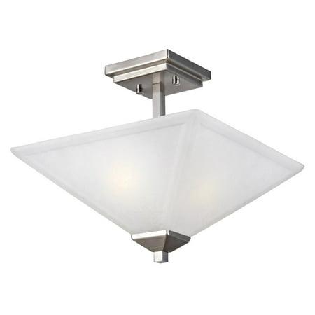 - Design House 514802 Torino 2-Light Semi Flush Mount Ceiling Light, Satin Nickel