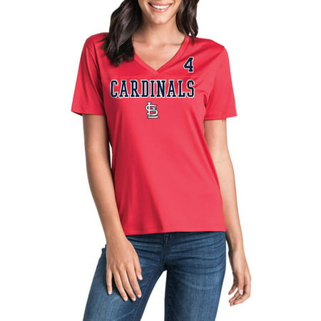 Louis Rams Player (MLB St. Louis Cardinals Women's Yadier Molina Short Sleeve Player Tee )