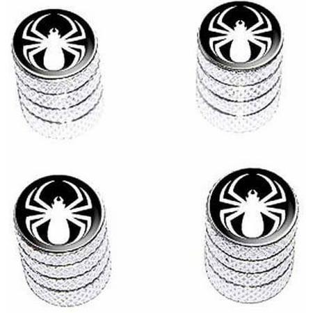 Spider White Spiderman Tire Rim Wheel Aluminum Valve Stem Caps, Multiple Colors