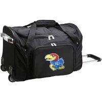 "Kansas Jayhawks 22"" 2-Wheeled Duffel Bag - Black - No Size"