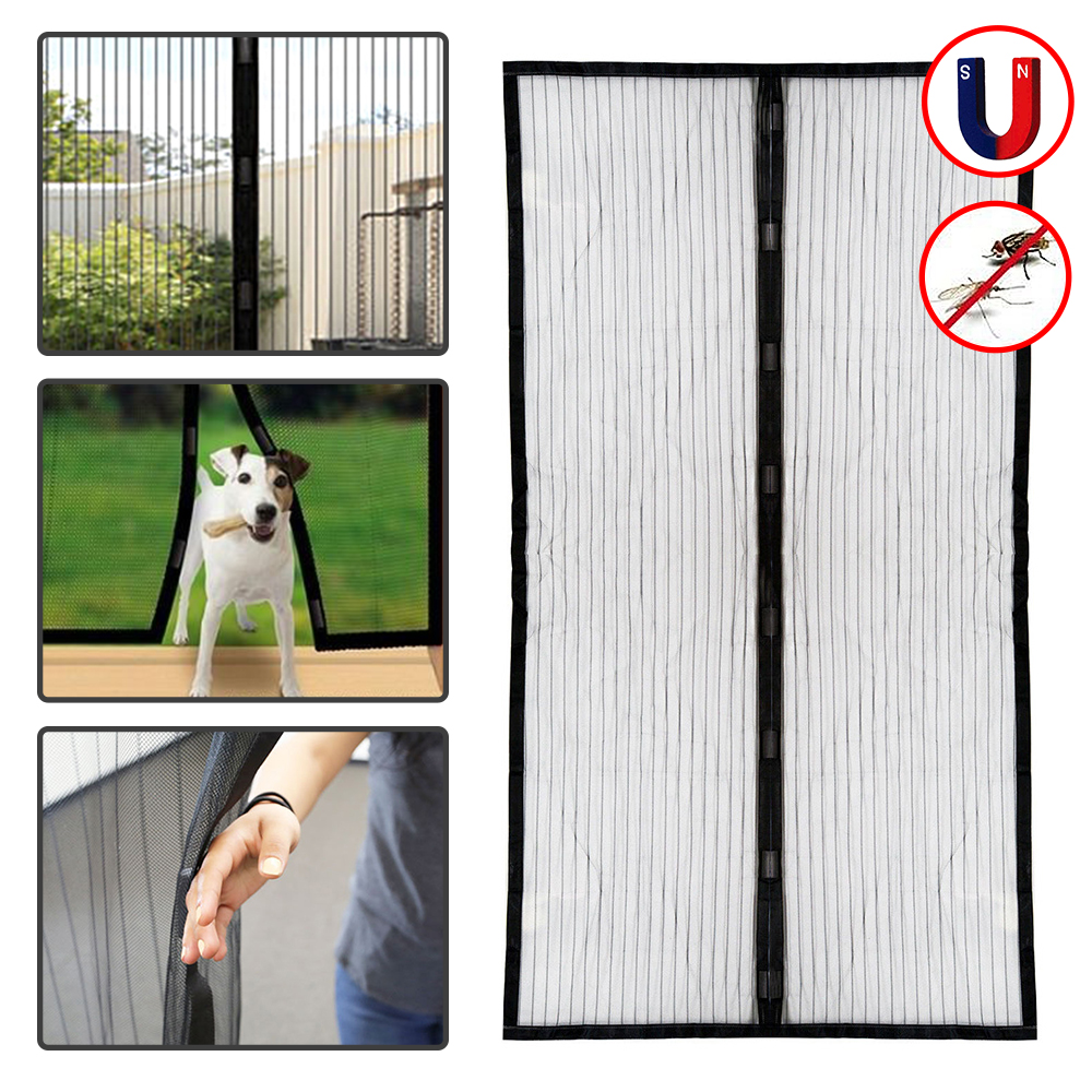 Summer Magnetic Anti Mosquito Mesh 100*210CM Magnetic Door Net Anti Insect  Fly Bug Mosquito