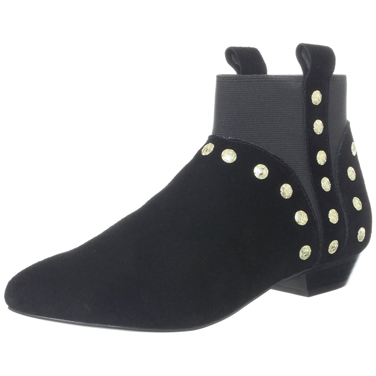 Cynthia Vincent Women's Dale Black Studded Ankle Booties
