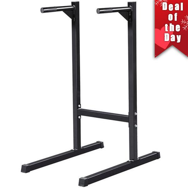 Yaheetech Heavy Duty Dip Stand Parallel Bar Bicep Triceps Home Gym Dipping Station Machine Dip Bar