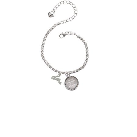 Leaping Rabbit You Will Forever Be My Always Engraved Bracelet