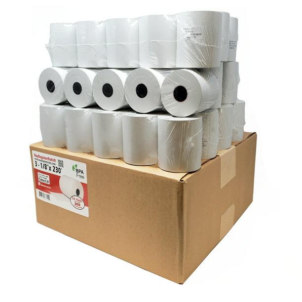 PM Company PMC05214 POS//Cash Register 3 1//8 Inch x 230 Feet 50 Rolls Per Unit