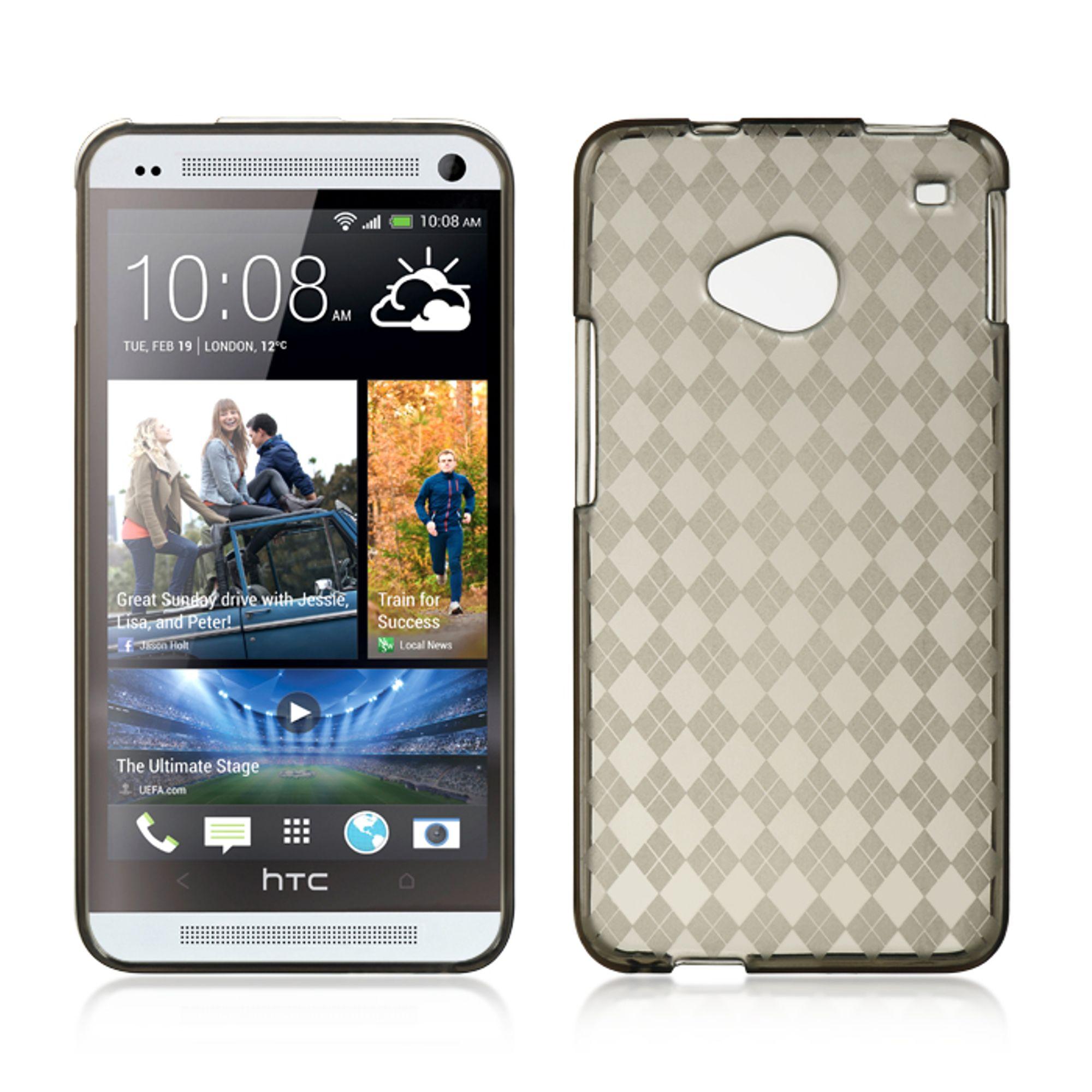 Insten Gel Cover Case For HTC One M7 - Smoke