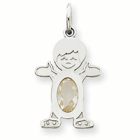 e6713897c Pendant Gemstone - 14K White Gold 6 x 4 Oval Genuine White Topaz April  Birthstone Boy Charm Pendant - Walmart.com