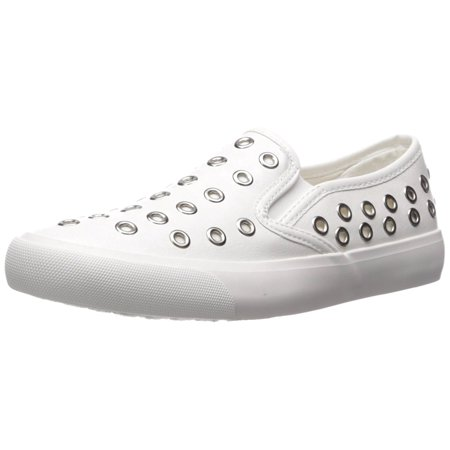 Womens Leather Sneakers (Qupid Womens Oval-01 Leather Low Top Slip On Fashion)