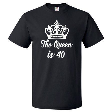 40th Birthday Gift For 40 Year Old Queen Is 40 T Shirt Gift](40th Birthday Shirts)