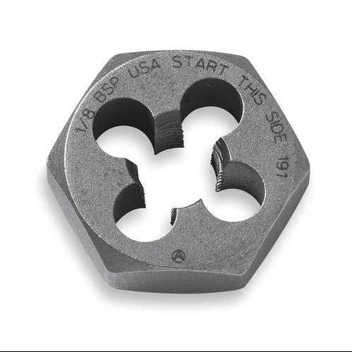 VERMONT AMERICAN 21239 Hexagon Die, Carbon Steel, RH, M9-1.25mm