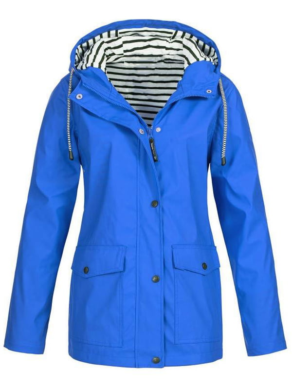 Women/'s Waterproof Jacket Hooded Lightweight Raincoat Outdoor Trench Coat Cheap