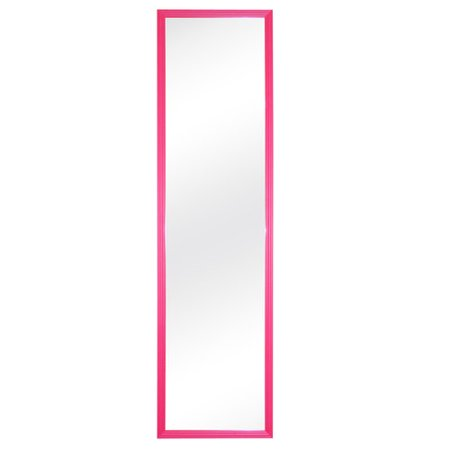mainstays 12x48 door mirror pink