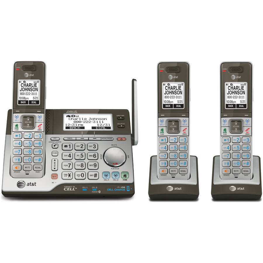 CLP99383 3-Handset Connect to Cell Answering System with Dual Caller ID
