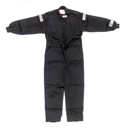 G-Force Black Youth Large GF125 1 Piece Driving Suit P/N 4125CLGBK