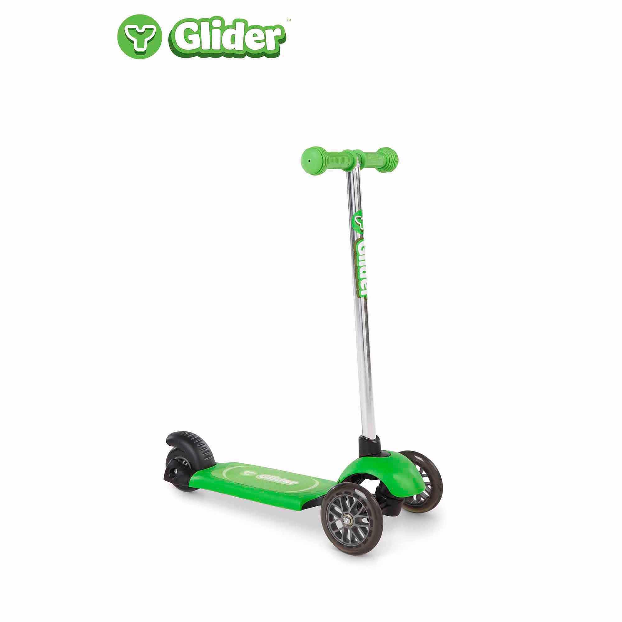 Yvolution Y Glider Scooter, Green
