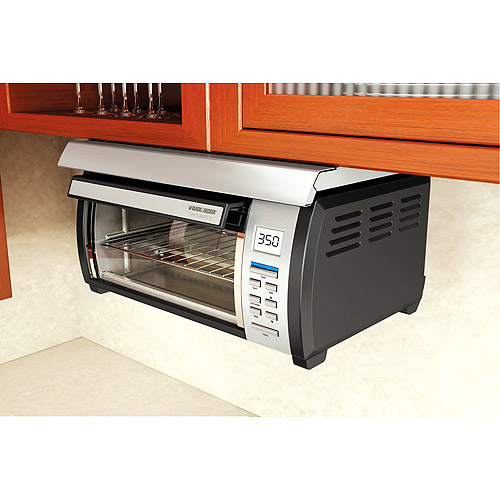 Black & Decker Spacemaker Toaster Oven, Black and Stainless