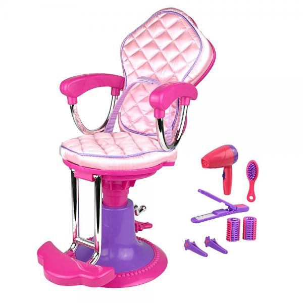 Click n' Play Doll Salon Chair and Accessories. Perfect For 18 inch American Girl Dolls by