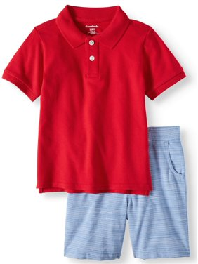 155354b74f Product Image Garanimals Pique Polo Shirt & Flat Front Shorts, 2pc Outfit  Set (Toddler Boys)