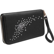 Gresso Llc Constellation Clutch - Wallet for Cell Phone - Leather - Black Onyx GR11CNS025