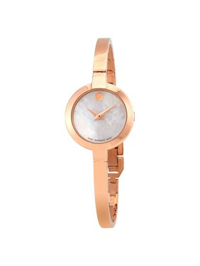 Movado Bela White Mother of Pearl Dial Ladies Watch 0607082