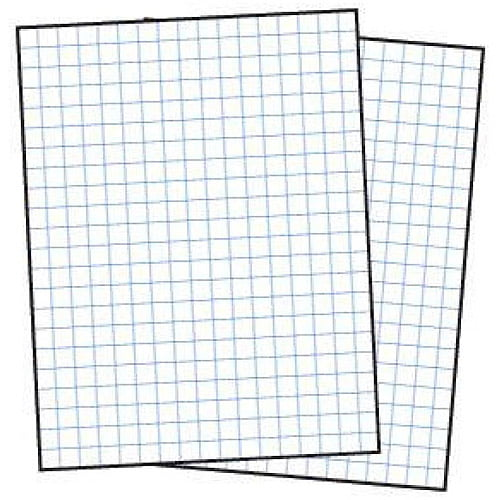 School Smart 3-Hole Punched Double Sided Graph Paper with ...