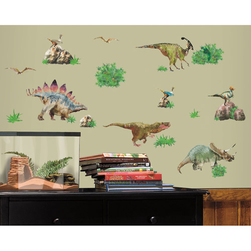 Lovely RoomMates Dinosaur Peel U0026 Stick Wall Decals