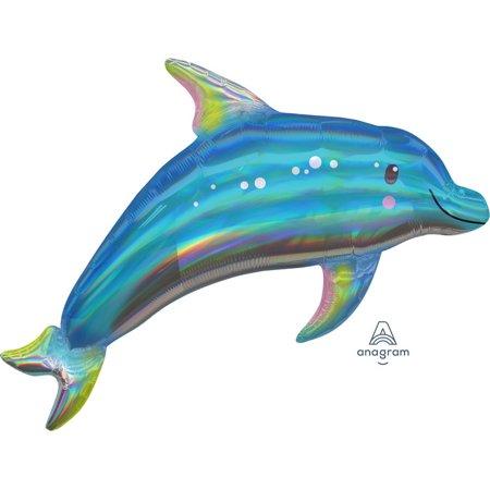 """Iridescent Blue Dolphin 29"""" Balloon (1)"""