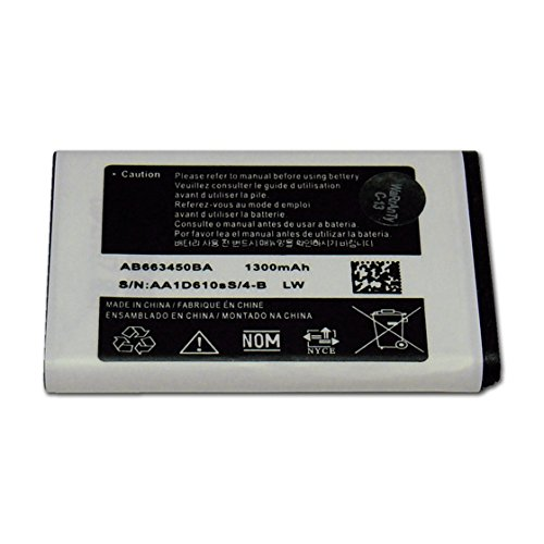World Star™ Standard Replacement Battery AB663450BA AB663450BU AB663450BZ 1300mAh For Samsung Rugby 2 II SGH-A847 1300mAh in Non-Retail Pack - USA Seller with 2-Year Limited Warranty