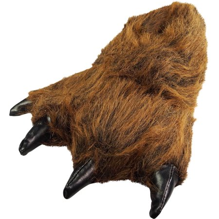 5688acc3d54 Norty Grizzly Bear Stuffed Animal Claw Slippers - Plush Paw Slippers -  Furry Fuzzy Soft Plush Animal Slippers - Toddlers Kids Mens and Womens  Adults - Fun ...