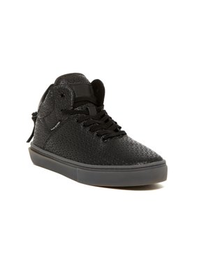 Clear Weather One-Ten High Top Mens Fashion Sneaker Black Perforated Leather CRW-110-BLKP