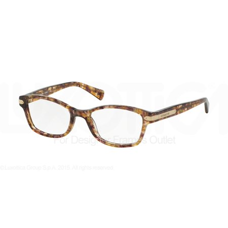 5282082f3b COACH Eyeglasses HC6065 5287 Confetti Light Brown 49MM - Walmart.com