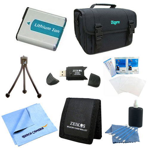 EN-EL5 Battery Kit, Deluxe Case, Table-top Tripod, Micro Fiber Cloth, Cleaning Kit, USB 2.0 Card Reader, Memory Card Wallet, Screen Protectors for Nikon CoolPix P510 P520 P530 P500 P90 P100 P6000