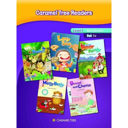 Caramel Tree Readers Level 1 Storybook Set 1a: What Is Budu?   Sweet Bear Family   Bread and Cheese   Messy... by