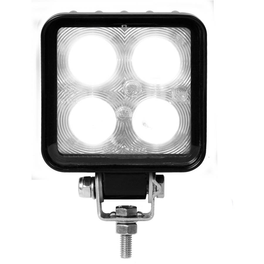 Grand General Square Heavy Duty High Power 4 LED Work Light in 9-36 Multi-Voltage