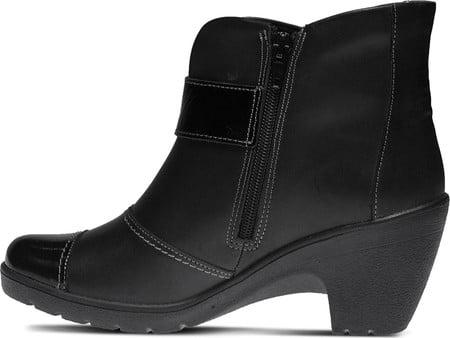 Spring Step Women's Manifest Booties Black Leather Textile 39 M EU 8.5 M