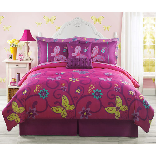 Vanessa Butterflies Bed in a Bag Set with 2 Bonus Pillows